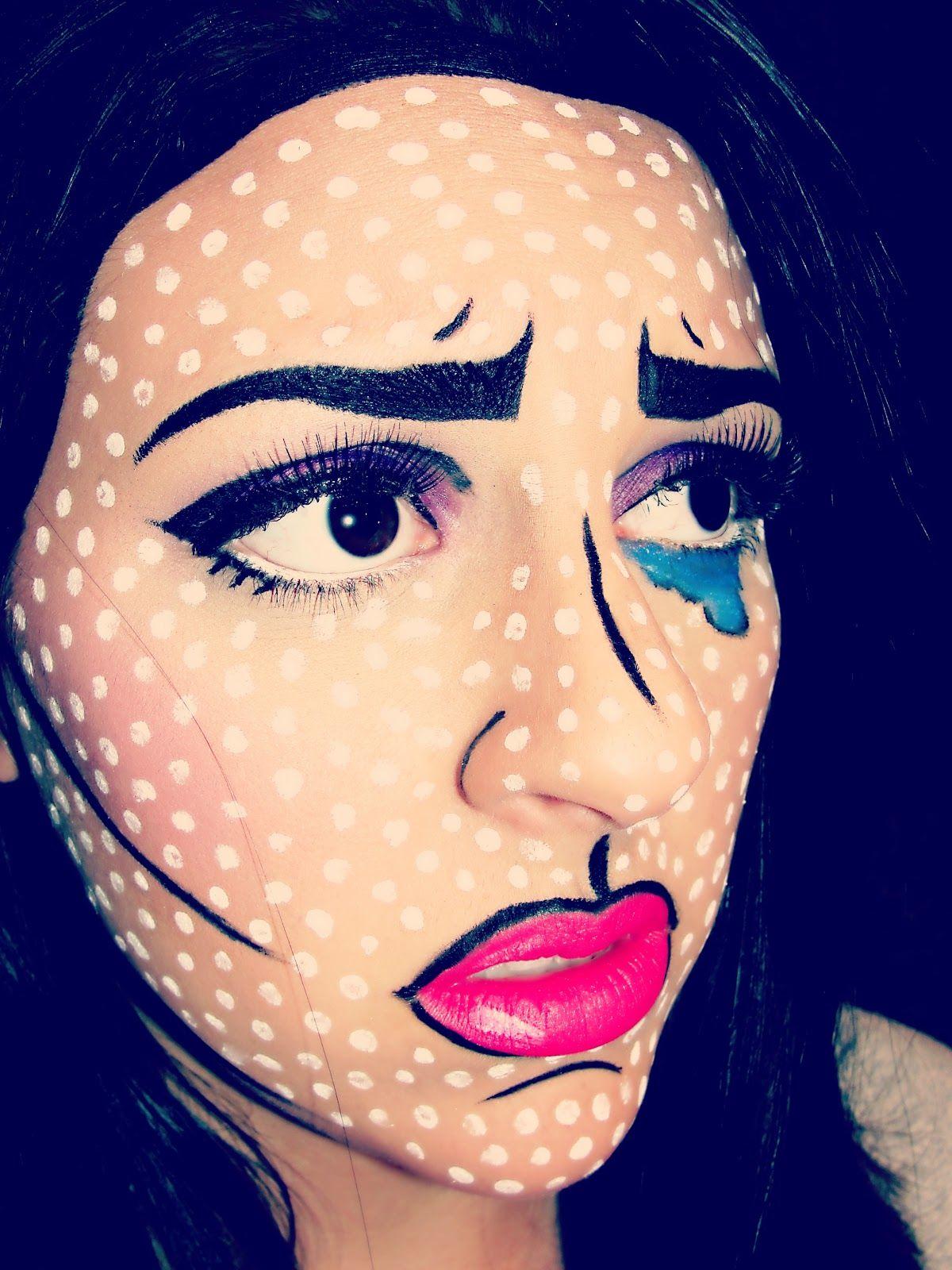 Pop Art Halloween Makeup Ideas | Pop art, Comic makeup and ...
