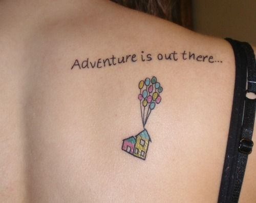 My Second Tattoo From The Movie Up Submitted By Erica