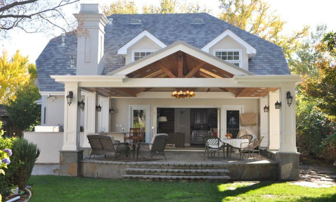 Covered Veranda Design Covered Back Porch With Patio