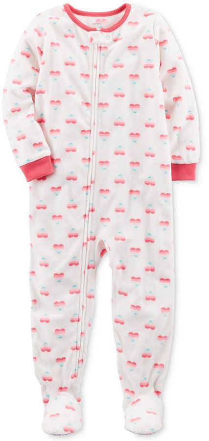3efffe76d Carter s 1-Pc. Heart-Print Footed Pajamas