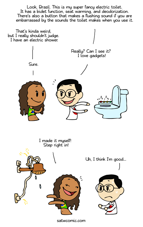 Refreshing Shower Satw Comic Country Jokes Funny Comics