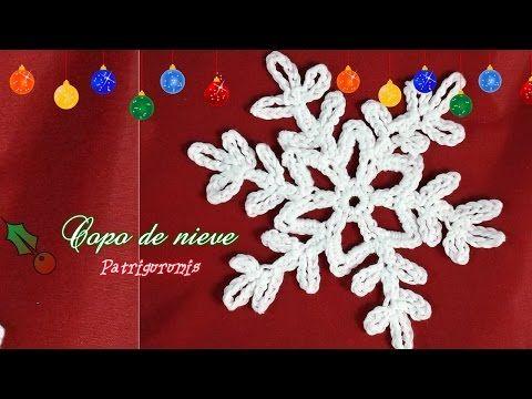 Copo De Nieve Nº1 De Ganchillo Snowflake Youtube Crochet Christmas Snowflakes Crochet Snowflake Pattern Crochet Snowflakes