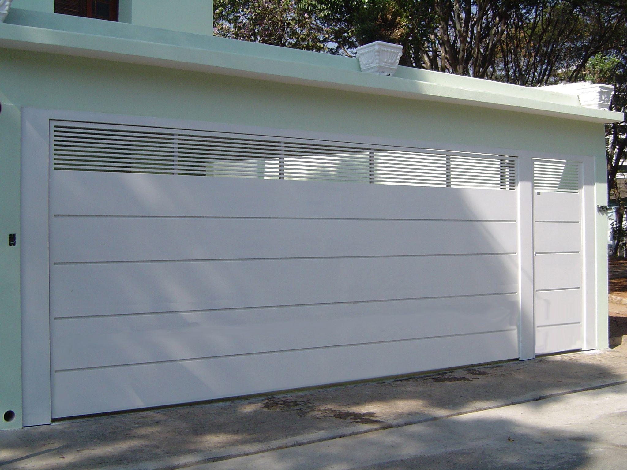 Excepcional Modelos de portões para garagens residenciais | Portões, Garagens  FP65