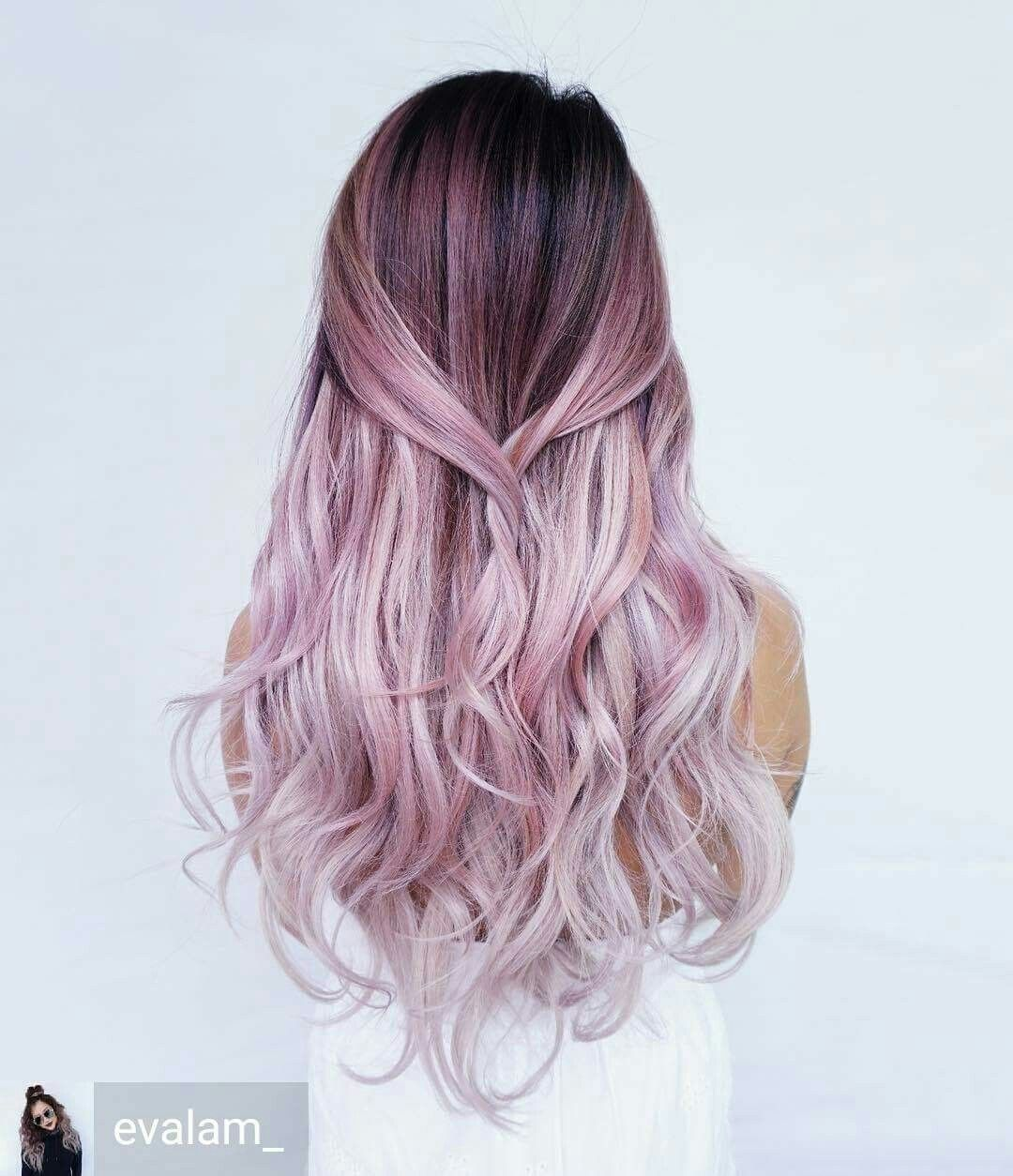 Awesome pastel violet rose ombre hair dyes ideas pinterest