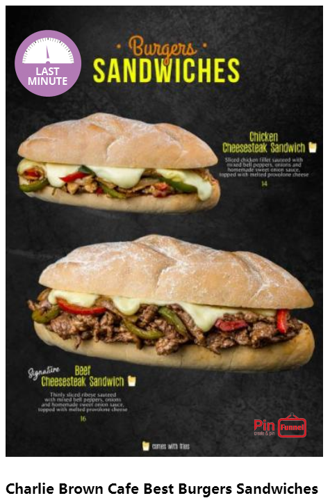 Singapore Best Sandwiches Burgers 2018 Now At Charlie Brown Cafe At Cineleisure Orchard Check Over 70 Ne Cheese Steak Sandwich Charlie Brown Cafe Good Burger
