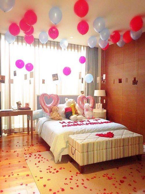 Regalos con globos que necesito recibir este san valent n for Cuartos decorados para aniversario