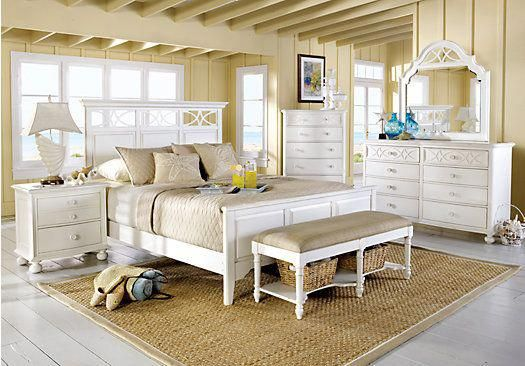 picture of Cindy Crawford Home Seaside White 5 Pc Queen Panel