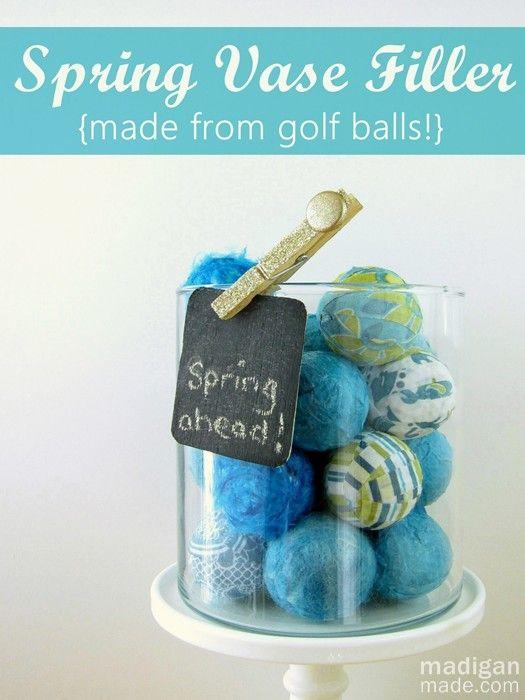 How To Make Vase Filler From Golf Balls I Noticed Last Week That