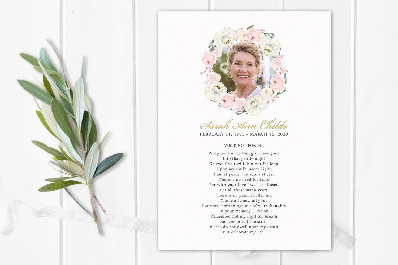 Funeral Poem Card Tribute Card Memorial Funeral Gift Template Etsy Funeral Poems Funeral Gifts Celebration Of Life