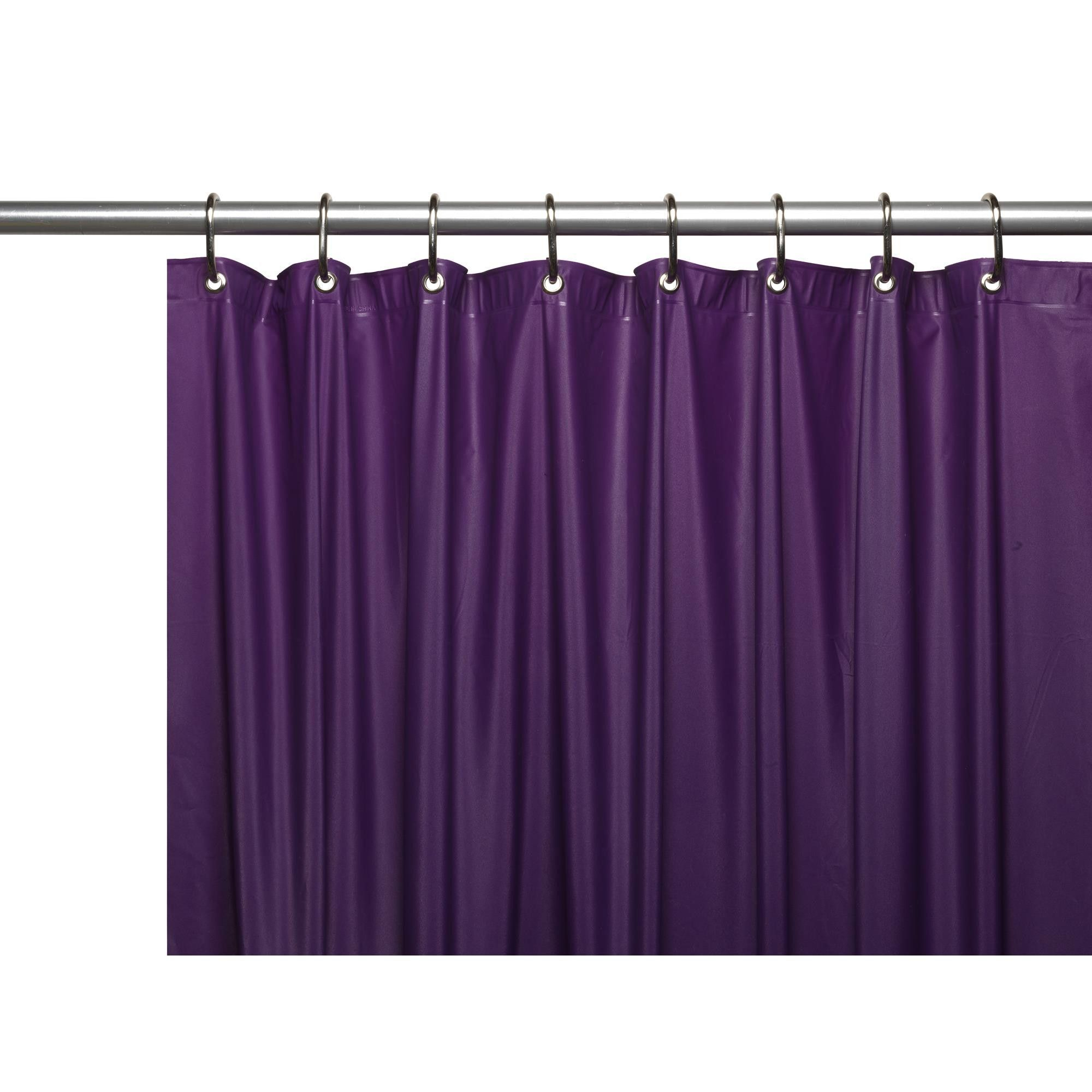 Purple shower curtain liner - Carnation Home Hotel Collection 8 Gauge Vinyl Shower Curtain Liner W Metal Grommets In