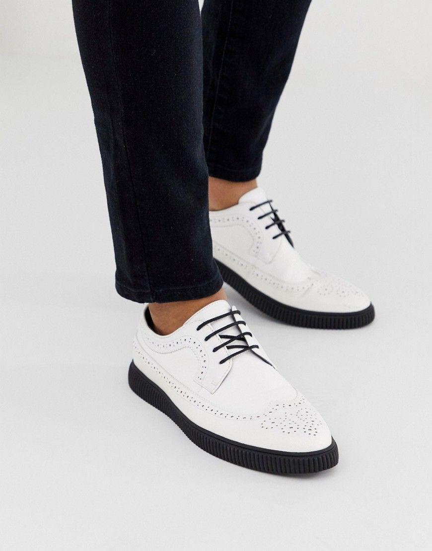 Asos Design Creeper Brogue Shoes In