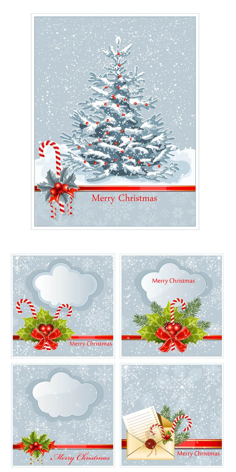 Merry #Christmas cards set #vector | Free Vector Graphic Resources ...