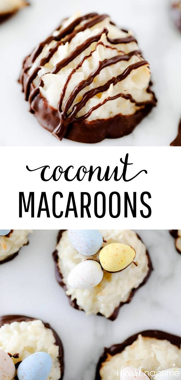 Coconut Macaroon Easy Coconut Macaroons - Soft, chewy and full of coconut flavor. So simple to make...you only need 6 ingredients and one bowl!