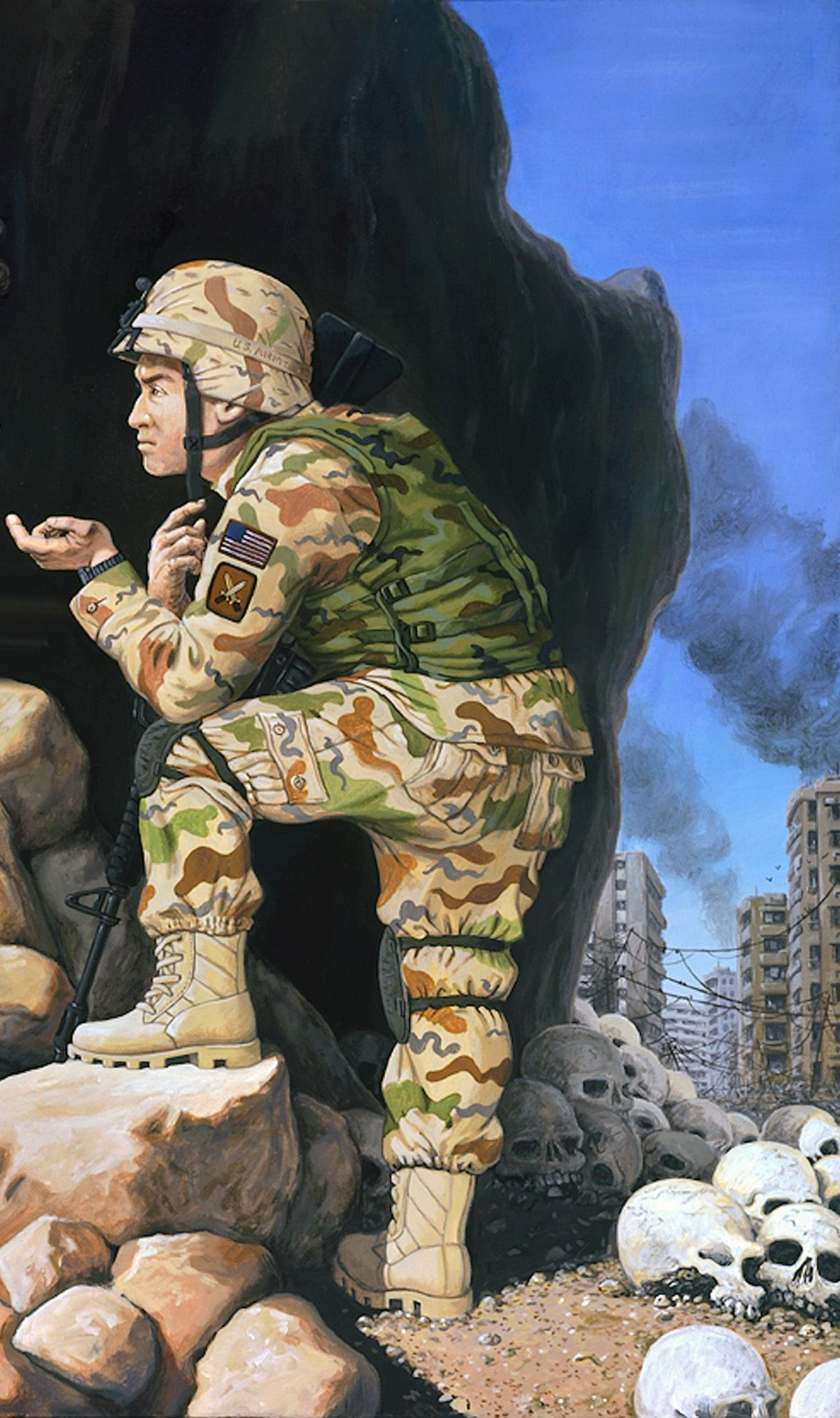 Riddle of the Sphinx- US troop during the War on Terror