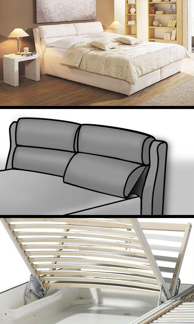 Schon Bett Mit Stauraum, Kopfteil Bett, Lattenrost, Mittelmeer, Hochwertig, Wohnen