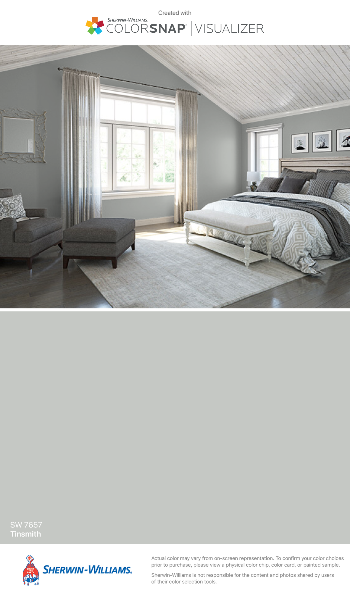 I Found This Color With Colorsnap Visualizer For Iphone By Sherwin Williams Tinsmith Sw 7657 Bedroom Paint Colors Home Master Bedroom Paint