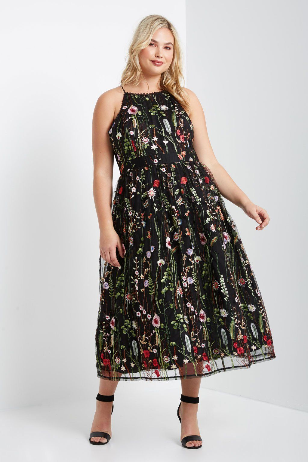 51708d41e3e Floral Embroidered Dress. Contemporary Plus Sizes   Cute and Curvy ...