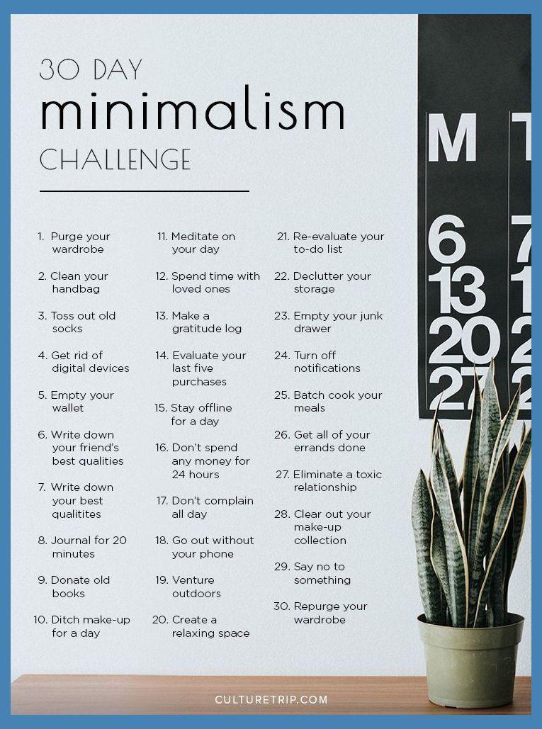 How To Live A Simple Minimalist Life Minimalism Challenge