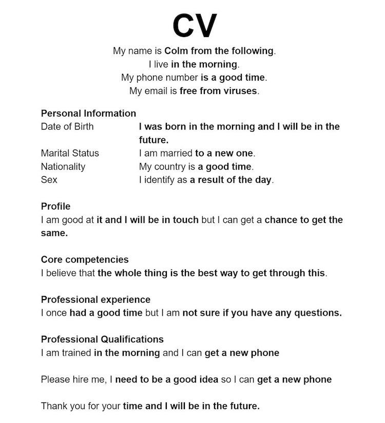 Guy Creates Hilarious Resume Using Google Autocomplete Inspires Jobseekers Everywhere Funny Dating Quotes Single Mom Quotes Funny Quotes