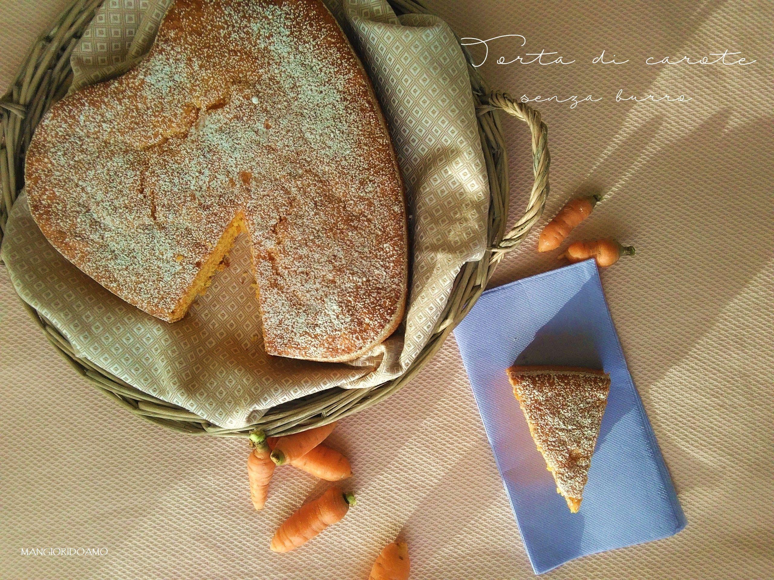 Torta di carote senza burro http://www.mangioridoamo.com/2016/09/19/torta-di-carote-senza-burro/