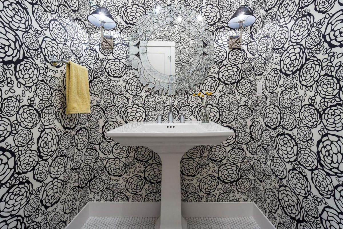 Expensive looking bathroom Bathroom wallpaper, Tile