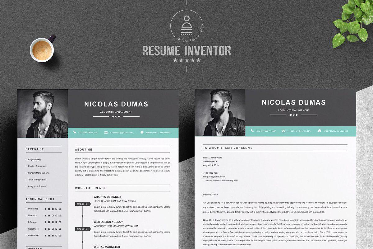 Resume Template in 2020 Resume template, Modern resume