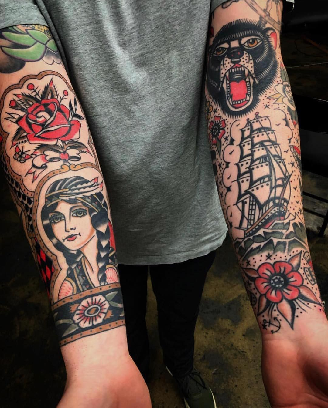 Traditional Forearm Tattoo : traditional, forearm, tattoo, Traditionalartist, #tattoo, @zackdeaton, #traditional, #traditionaltatt…, Traditional, Tattoo, Forearm,, Sleeve,
