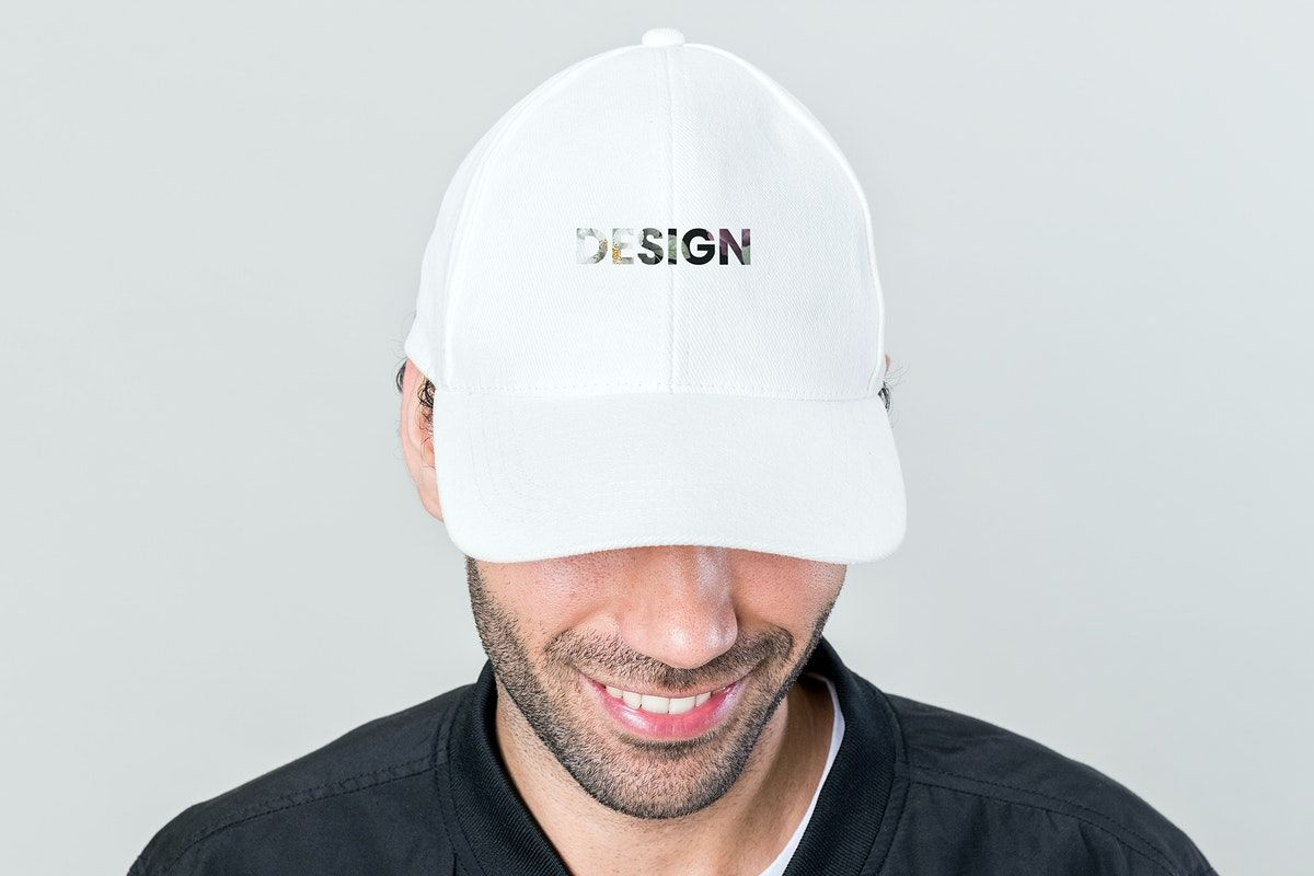Download Happy Man Wearing A White Cap Mockup Free Image By Rawpixel Com Teddy Rawpixel White Caps Cap Clothing Mockup