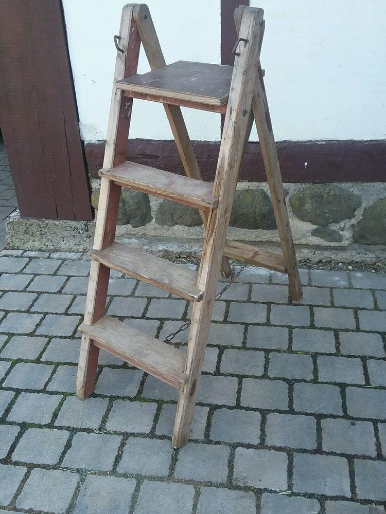 Holz Leiter Mit Besonderer Patina Nr 2 Mon Ami E Vintage