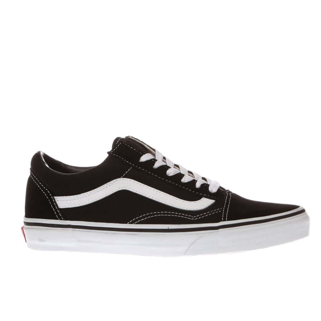 womens black & white vans old skool trainers | schuh