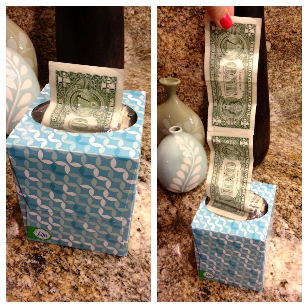 Amazing gift idea for giving cash tape dollar bills