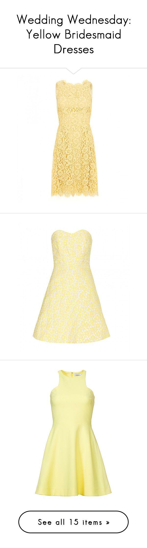 Wedding wednesday yellow bridesmaid dresses
