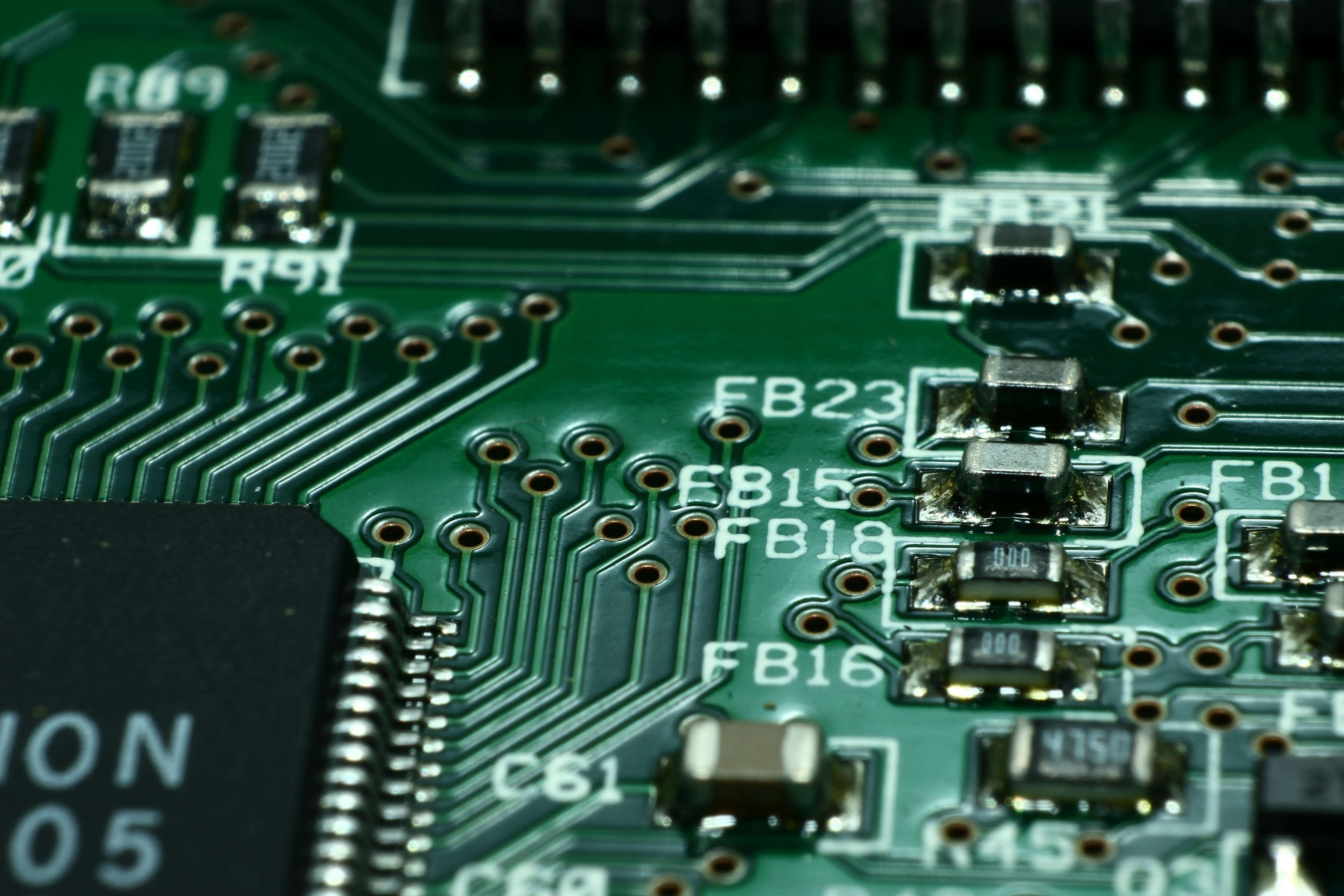 board #capacitors #chip #circuit #circuitry #close #components ...