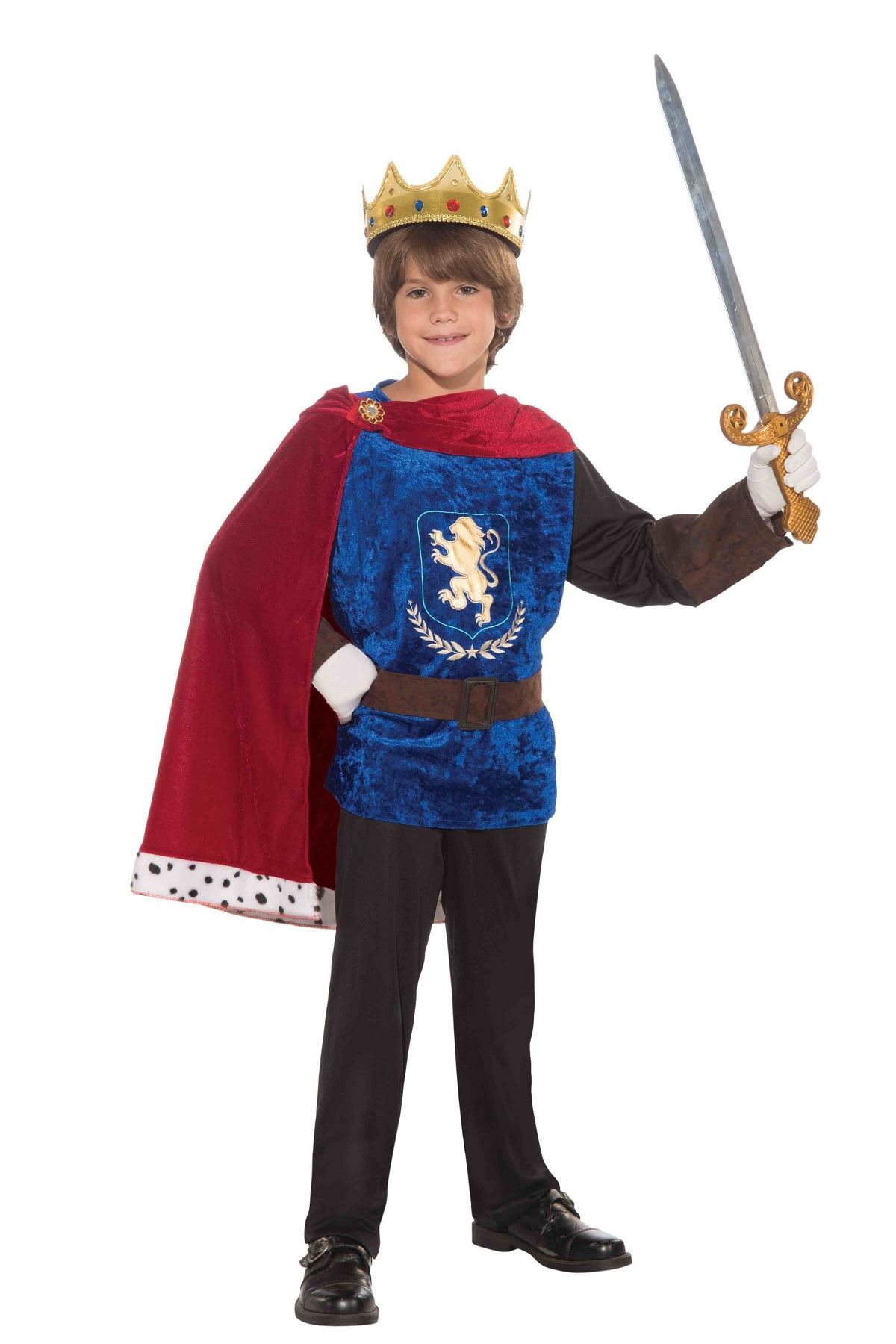 Childrens Fancy Dress Costume Boys Fantasy King Handsome Prince//Knight