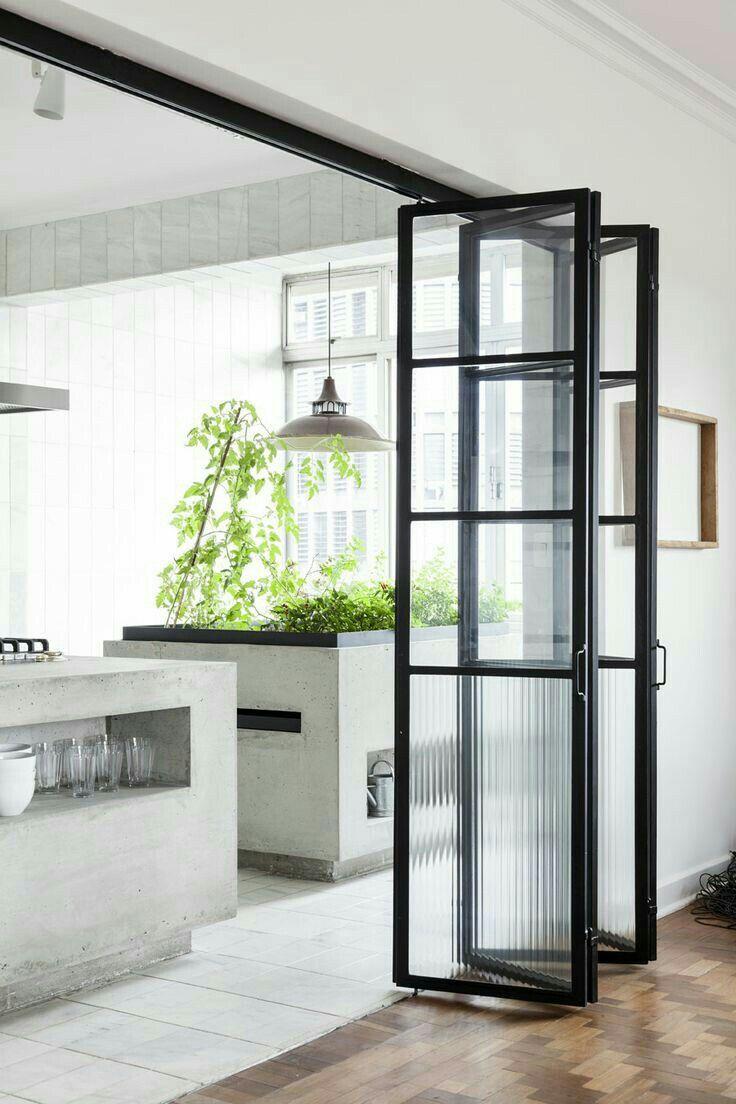 Puerta desplegable  Minimalism interior, Minimal interior design