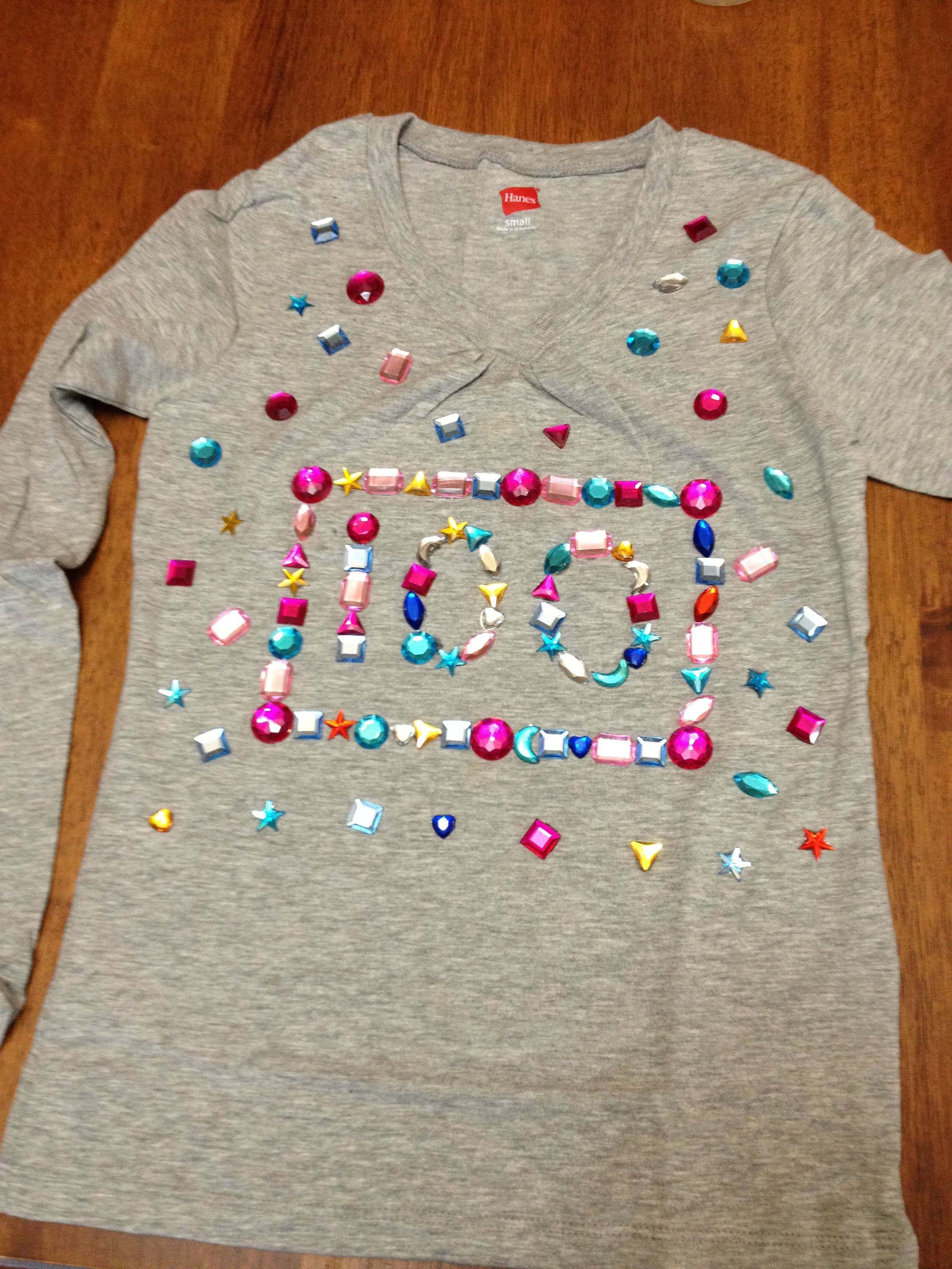 100th Day Of School Shirt Project 100 Days Of School School