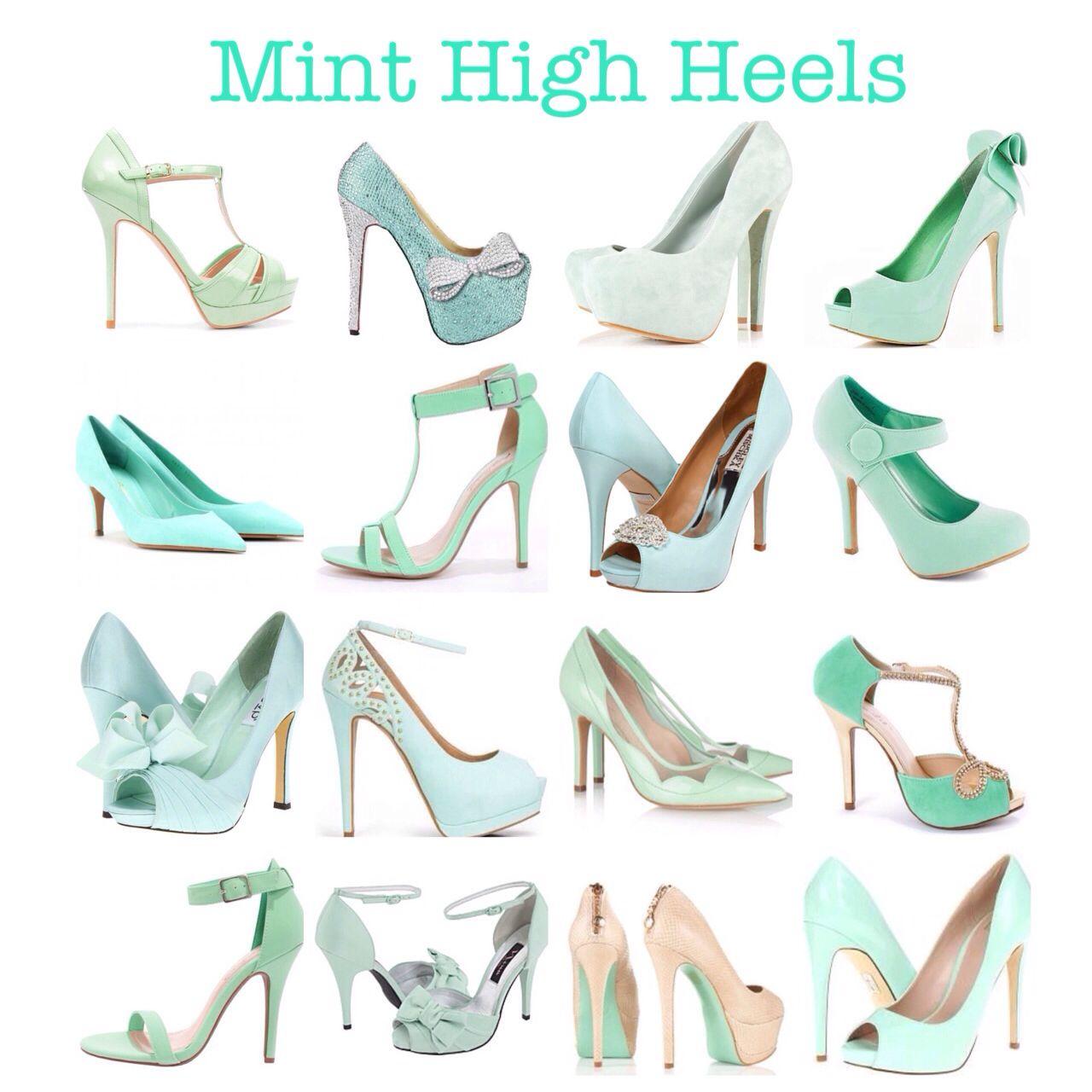 dca20e5652e Mint Green High Heels (bridal shoes