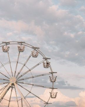 Carnival Photography, Ferris Wheel, Pastel decor, Vintage photography, Sunset Art, American Decor - Pastel Carnival