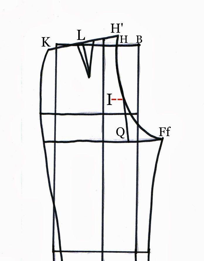 Tutorial para trazar el patrón del pantalón. | costura | Pinterest ...