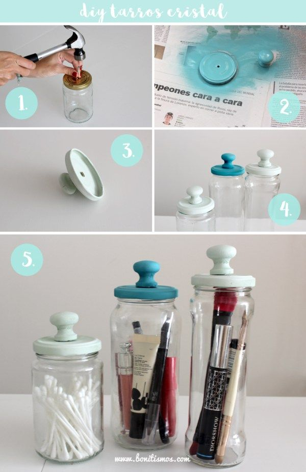 Diy frascos decorados ideas josefina pinterest - Diy frascos decorados ...