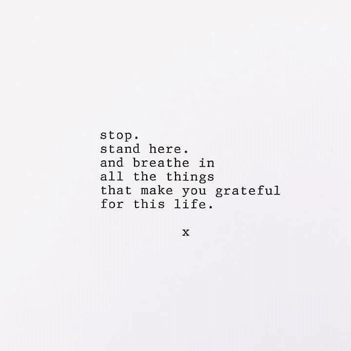& breathe in all the things that make you grateful for this life.