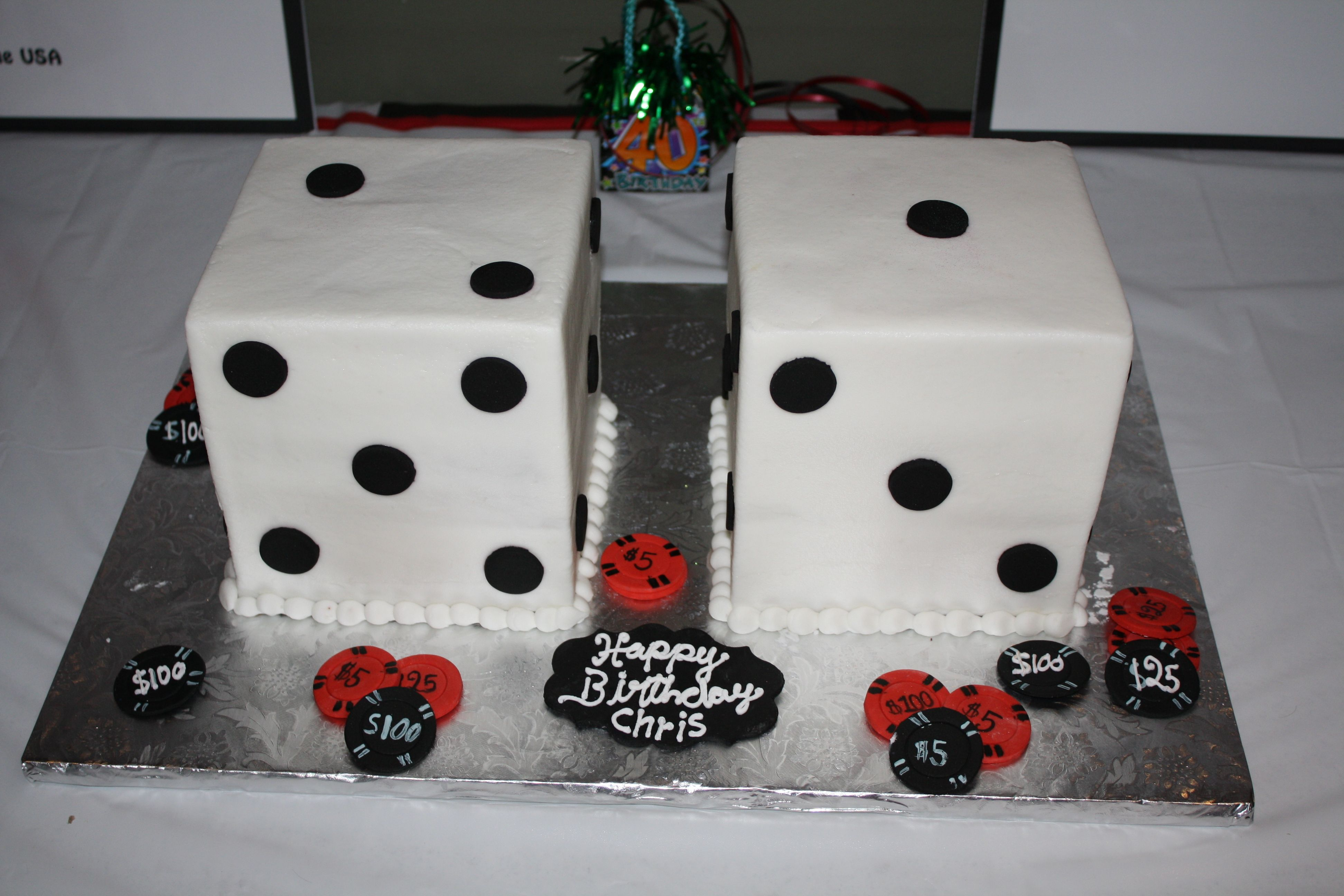 Casino Party Cake Who Made The In Houston TX SO YUMMY TOO