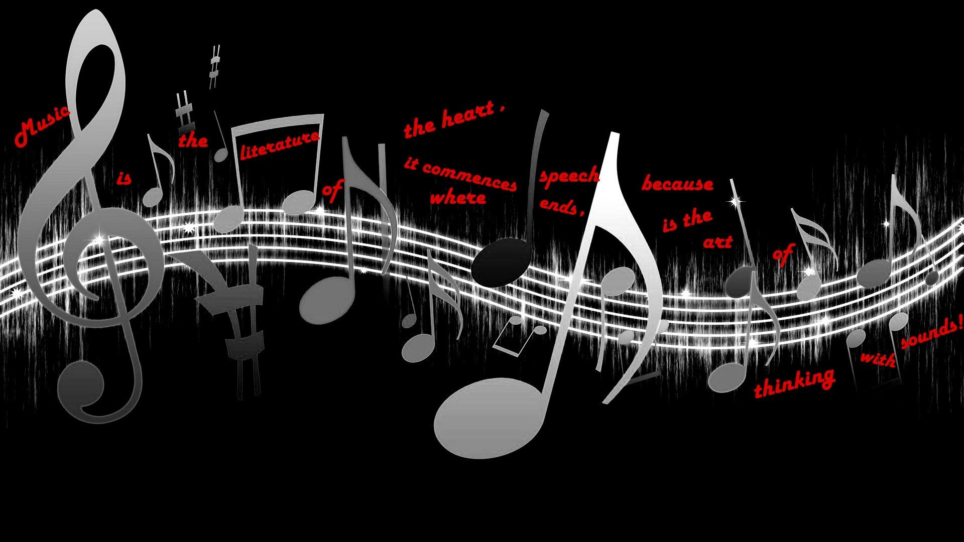 3d Abstract Music Hd Wallpaper Music Notes Background
