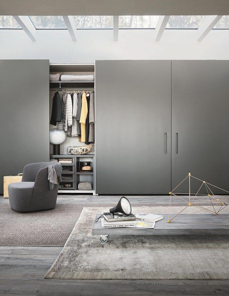 Wardrobe With Coplanar Doors Custom Ellevi Wardrobe With Coplanar Doors By Lema Italianfu Italian Furniture Brands Wardrobe Door Designs Minimalism Interior