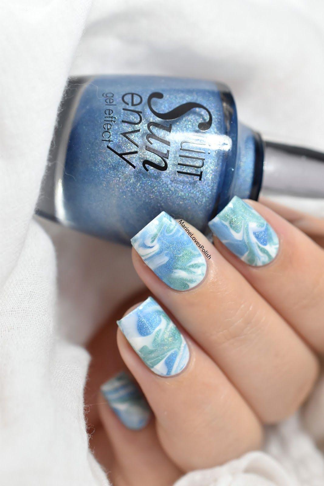 Easy smooshy marble nail art tutorial. | NAIL # ARTWORK | Pinterest ...
