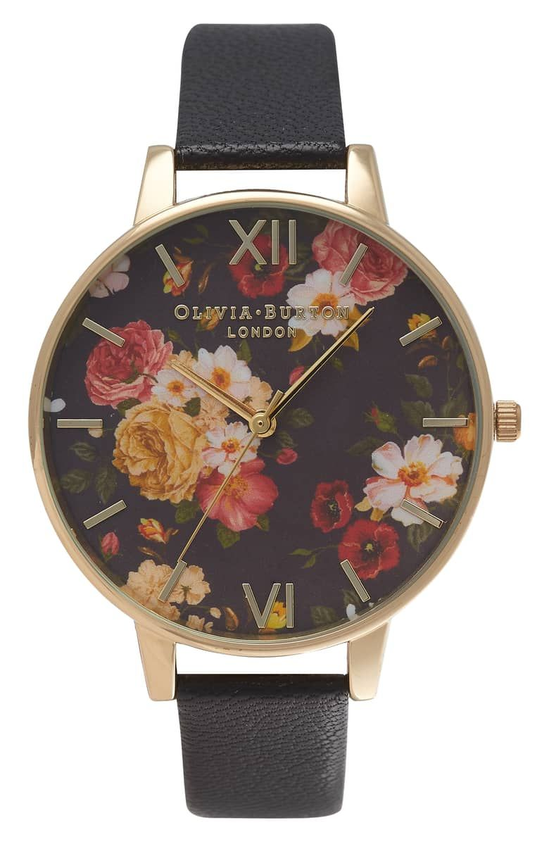ce38ffe673c Signature Florals Leather Strap Watch