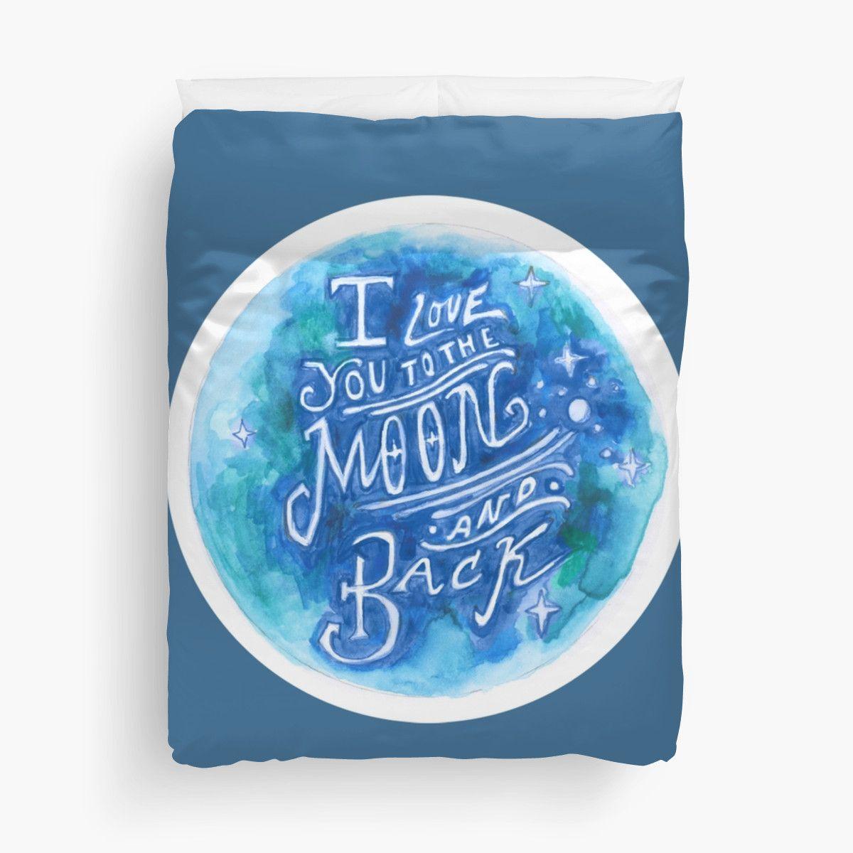 Blue Hand-Lettered Duvet Cover by #SarahVanRose for sale on #Redbubble