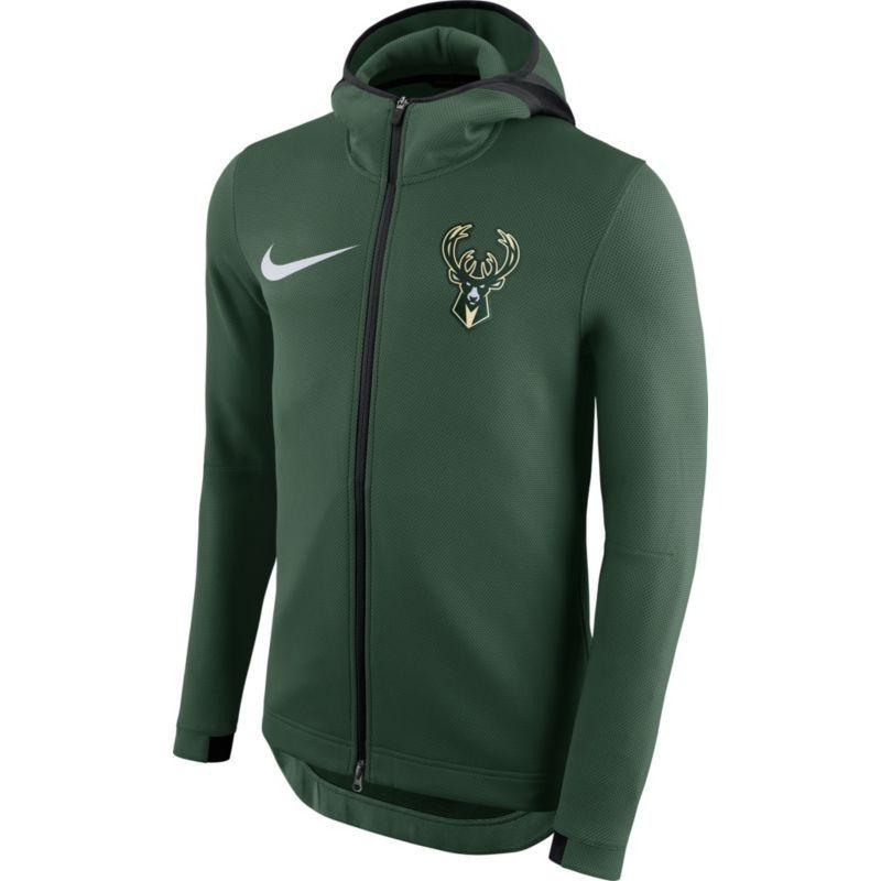 98d2c63a Nike Men's Milwaukee Bucks On-Court Green Therma Flex Showtime Full ...