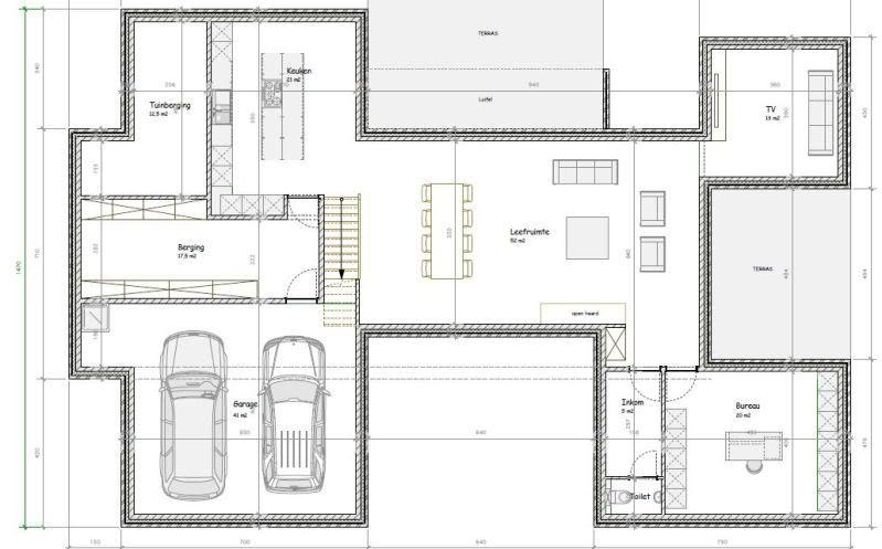 En groot modern huis indelen is niet zo simpel bouwinfo plattegrond woning pinterest - Plan indoor moderne woning ...
