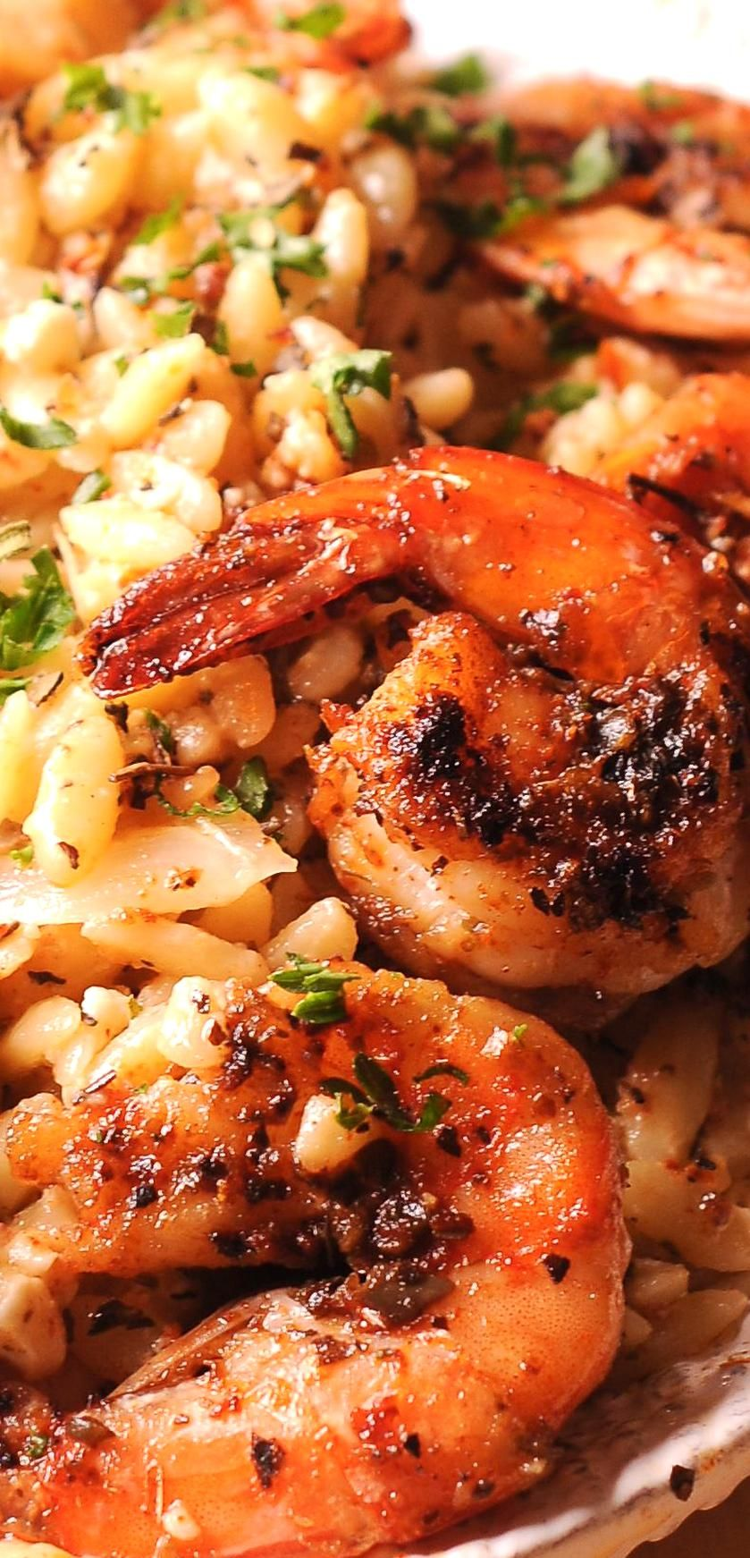 Shrimp Orzo In Creamy Wine Sauce Is One Easy Shrimp Orzo Pasta Dish Thats Ready In 30 Minutes Shrimp Orzo Pasta Wine W In 2020 Shrimp Orzo Orzo Pasta Easy Shrimp